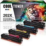 Cool Toner 4 Pack Kompatibel für 203X Toner CF540X CF541X CF542X CF543X HP 203A CF540A für HP MFP M281 M280 M254 HP Color Laserjet Pro MFP M254dw M254nw M280nw M281fdw Laserdrucker Farblaserdrucker