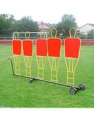 Trolley für 5 Dummies für Freistoßmauer, für Teamsportbedarf - Fußballtraining