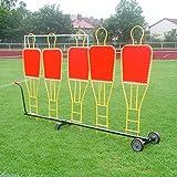 Trolley per 5sagome per Punizione muro, per Team Sport necessità–Calcio Training
