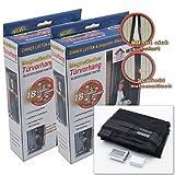 2x Fliegengitter für Tür Moskitonetz 100x210CM Insektenschutz Magnet Vorhang Fliegenvorhang für Balkontür Wohnzimmer, Schwarz