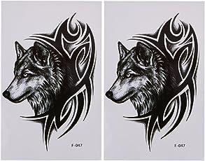 Rrimin Fashion Body Art Decoration Removable Waterproof Temporary Tattoo Stickers (2 Pcs Style E)