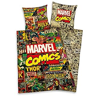 Herding Bettwäsche glatt Marvel Comics Hulk Ion Man Thor Avengers X-Men 135 x 200 All-In-One-Outlet-24 -