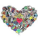 Lanseed (200 Stk Aufkleber Vinyl Stickers Graffiti Decals Stickerbomb f¨¹r Auto, Skateboard, Koffer, Motorr?der, Fahrr?der, Boote, Laptop, Snowboard Gep?ck und Glatte Oberfl?Che