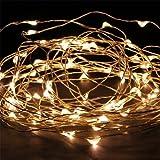 KK-LIGHT KKgud 10M 100LED rame luci della stringa con adattatore di alimentazione per il Natale Feste Weddies, Etc. (Warm White)