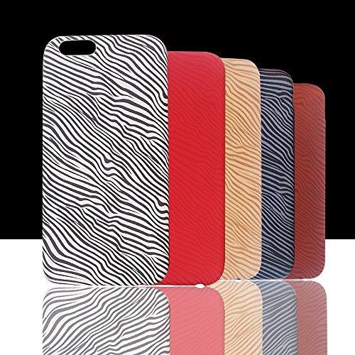 Apple Iphone 6 6S Hülle Nnopbeclik® TPU+PC Ultra Slim Silikon Schutzhülle Hard Back Cover Case, 3D Druck Print Diagonale Streifen Schutzhülle Muster Full Protective Glänzend Kristall Stoßdämpfend Schu Orange+Weiß Streifen