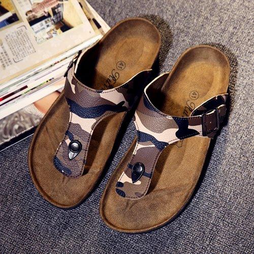 Xing Lin Sandales Pour Hommes Chaussons Pour Hommes Sandales Hommes D'Été Anti-Dérapant Chaussures De Plage Sandales Pied Clip Camo