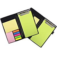 COI Memo Note Pad/Memo Note Book with Sticky Notes & Clip Holder in Diary Style (Neon 2 pcs)