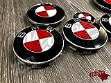 weiß& rot KOHLENSTOFF BMW Abzeichen Emblem Überzug Haube Koffer Felgen für alle BMW x Laufwerk