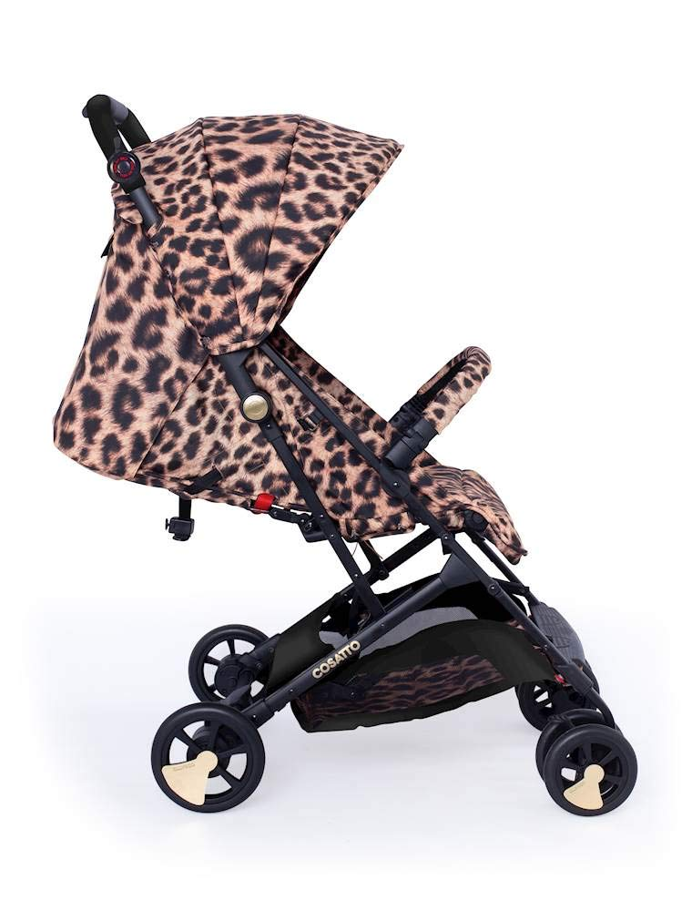 Cosatto Woosh Hear Us Roar Pushchair Cosatto Compact from-birth pushchair, carries up to 25kg child, so you can use it for longer Folds one-handed into small compact bundle, easy store and ultra lightweight for city life Luxury fabrics, rain cover, upf100+ double length hood and visor 4