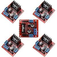 5pcs Regulador del módulo controlador ManYee L298N Dual H puente placa del controlador de motor controlador DC motor paso a paso para Arduino MTS1EU smart car robot