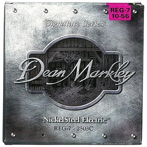 Dean Markley SignatureDM-2503C-REG 10-56 E-Gitarrensaiten, vernickelt, Regular (7 Stück)
