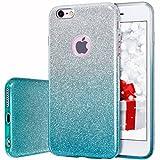 MILPROX iPhone 6s Plus Hülle, Glitzer-Schutzhülle schützende Hülle, kompatibel mit iPhone 6 Plus-Grüne Farbverlauf