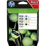 HP 953XL ComboPack 3HZ52AE, Confezione da 4 Cartucce Originali di Inchiostro, Compatibili con Stampanti HP OfficeJet Pro Seri