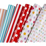Zattcas Gift Wrapping Paper Roll Cute Animal Design Kids Girls Boys Wrapping Paper with Gift Wrap Ribbon for Birthday Party B