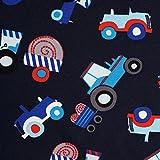 Traktor - Jersey Stoff mit Traktor Print, Little Darling Kollektion - Meterware