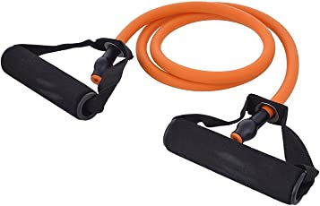 FARRAIGE Extra Strong Soft Expander Resistance Band , Exercise Tube - Multi Color