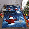 Winter Wonderland Snowman Sparkle Bedding Set Double