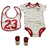 Nike Jordan 0-6 Months 3 Piece Set White Blacj Red Baby Boy - Girl