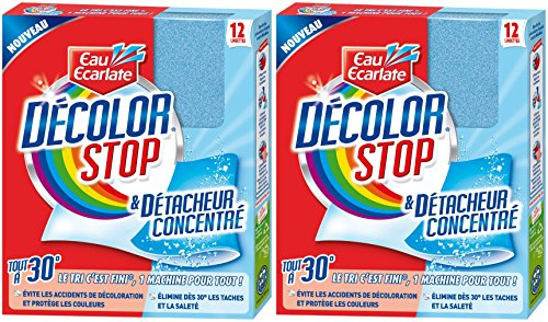 DECOLOR STOP Set de 12 Lingettes Anti-décoloration Tout à 30° - Lot de 2