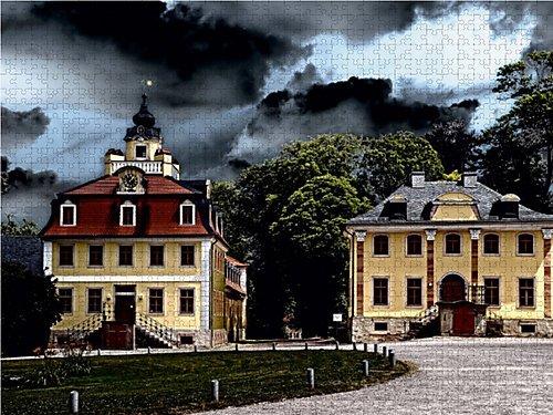 Barockes Schloss Belvedere bei Weimar/Thüringen 1000 Teile Puzzle quer (CALVENDO Orte) - 3