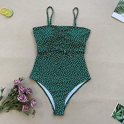 Manooby Damen Badeanzug Groß Bauchweg Einteiler Bademode Badeanzug High Waist Einteiliger Figurformender Schwimmanzug L bis XL - 6