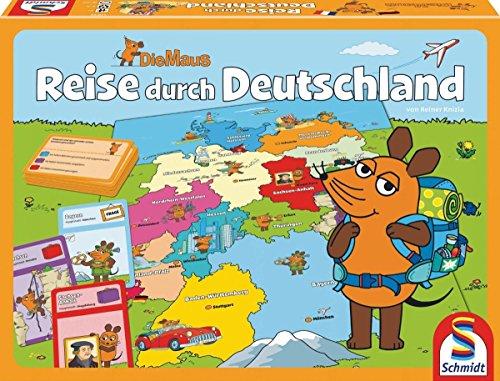 Preisvergleich Produktbild Schmidt Spiele 40569 - Die Maus: Reise durch Deutschland, Quizspiel