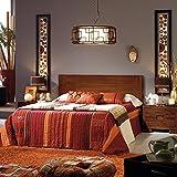 Twins Bett-Kopfteil 150/160 - Holz - 162x3x95 cm - Farbe Teak