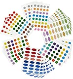 756ätherisches Öl Etiketten/Aromatherapie Etiketten–Farbe codiert Flasche Etiketten (inkl. blanko und vorgedruckt)–Kleine & ovale Form Etiketten–Multicolor–24Blatt Aufkleber