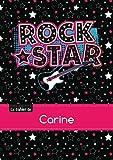 Le cahier de Carine - Blanc, 96p, A5 - Rock Star