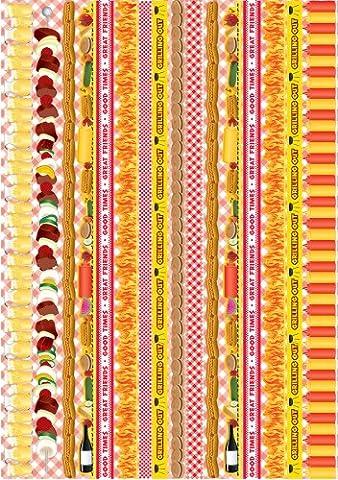 Reminisce Celebration Series Backyard Bash Folded Border Sticker by Reminisce