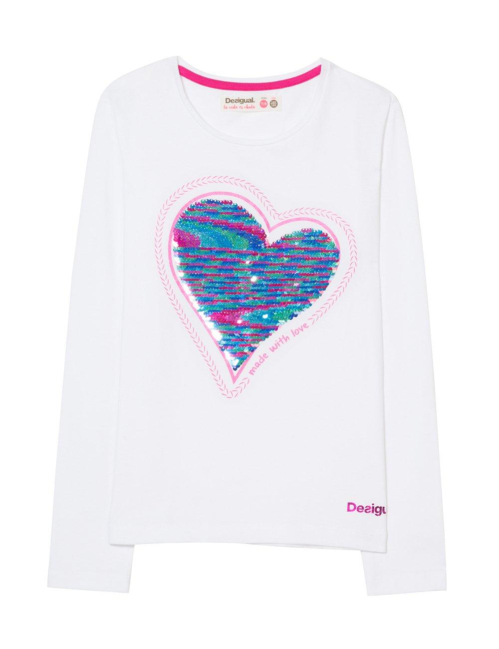 Desigual TS_Sequins Camiseta para Niñas