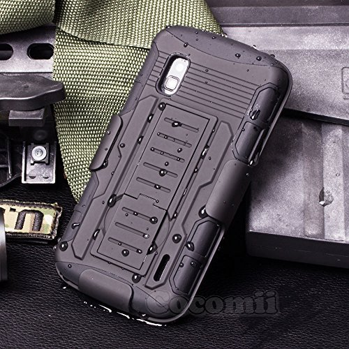 LG Nexus 4 Hülle, Cocomii Robot Armor NEW [Heavy Duty] Premium Belt Clip Holster Kickstand Shockproof Hard Bumper Shell [Military Defender] Full Body Dual Layer Rugged Cover Case Schutzhülle Google E960 (Black) (Iphone 6 Für 4 Dollar)