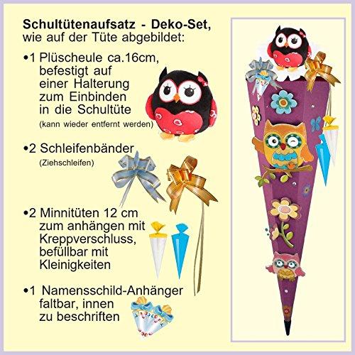 Olivia the Owl Eule Schulranzen Set TOOLBAG SOFT Schneiders u. passende Federtasche Sporttasche Schultüte Schmuckaufsatz-Set Set 14 tlg. – 78405-0513 - 8