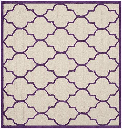 Safavieh Everly handgetufteter Teppich, CAM134V, Elfenbein / Lila, 182 X 182  cm (Safavieh-teppiche Lila)