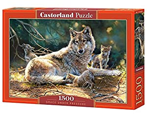 Castorland Grace Under Pressure 1500 pcs Puzzle - Rompecabezas (Puzzle Rompecabezas, Fauna, Niños y Adultos, Lobo, Niño/niña, 9 año(s))