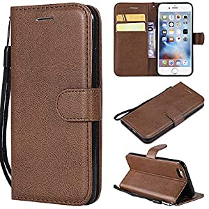 BoxTii iPhone 6s Hülle, Wallet Etui Einfarbig PU Flexible Leder Wallet Anti-Scratch Schutz Hülle mit Frei Panzerglas Displayschutzfolie für Apple iPhone 6 / iPhone 6S