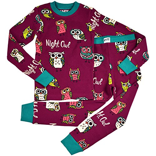Lazy One LazyOne Unisex Night Owl Kids Thermal PJ Set Long Sleeves