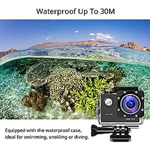 Victure-Action-Cam-WI-Fi-Full-HD-1080P-Wasserdichte-Sport-Action-Kamera-30M-Unterwasserkamera-mit-2-Zoll-LCD-Bildschirm-170-Weitwinkel-Objektiv-2-Akkus-und-Montage-Zubehr-Kits