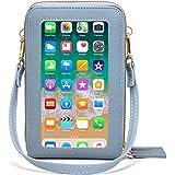 Fangoo Donna Borsa a tracolla per cellulare Piccola Borsa per cellulare Multifunzione borsetta a tracolla con touchscreen in