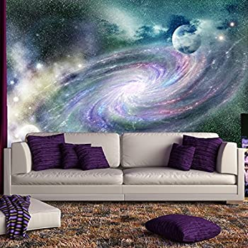 Awesome Purple Galaxy Spiral Wall Mural Space Nebula Photo Wallpaper Bedroom Home  Decor Available In 8 Sizes
