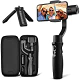 3-Axis Gimbal Stabilizer for iPhone X XR XS Smartphone Vlog Youtuber Live Video Record with Sport Inception Mode Face Object