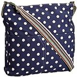SwankySwans Womens Kirsty Polka Crossbody Bag Blue SS01005 Large