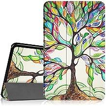 Fintie Galaxy Tab A 10.1 Funda - Ultra Slim Smart Case Funda Carcasa con Stand Función y Auto-Sueño / Estela para Samsung Galaxy Tab A 10.1 2016 T580N / T585N Tablet (Love Tree)