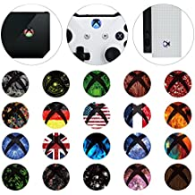 eXtremeRate® 60 piezas Inicio Botón de Potencia Pegatinas Vinyl Skin Sticker for Xbox One / One X / One S Console Kinect and Xbox One / One X / One S / Elite Controllers
