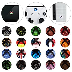 eXtremeRate 60 Pcs Home Button Power Switch Aufkleber Sticker Skin Cover für Xbox One/One S Konsole Kinect und Xbox One…