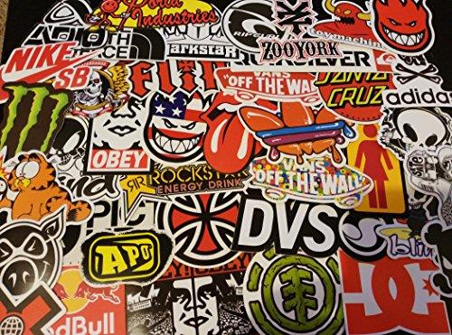 surtido lote de pegatinas, vinilo etiquetas, skate, logotipo, marca de monopatín, tabla de snowboard, monster, esqui, deporte extremo