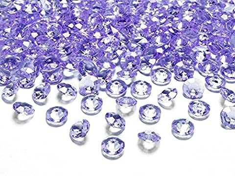 Dekosteine Diamanten lila 100 Stück 12mm Durchmesser Deko-Edelsteine Tischdeko Hochzeit Palandi®
