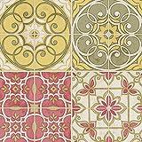 Küchen Tapete Landhaus Fliesen Ornamente Mandala