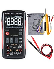 Tawcal Digital Multimeter Auto-Ranging DMM Temperature Capacitance AC/DC Voltage Current Multi Meter Tester with Analogue Bar Graph LCD Kit