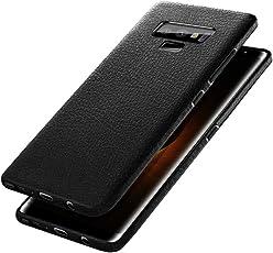 Für Samsung Galaxy Note 9 Hülle , 2018 Schlankes Leder Soft Rubber Phone Cover Case für Samsung Galaxy Note 9 Geschenk (Schwarz)